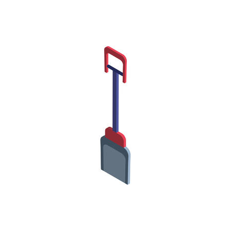 cute shovel on white background vector illustration design