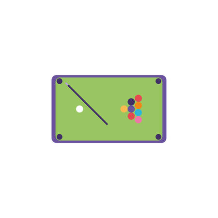 pool table in white background vector illustration design Stock Illustratie