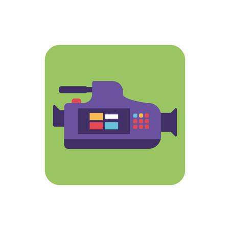 video camera on white background vector illustration design Zdjęcie Seryjne - 134161382