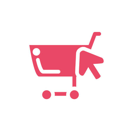 shopping cart on white background vector illustration design