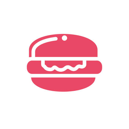 delicious and delicious hamburger on white background vector illustration design Stock Illustratie