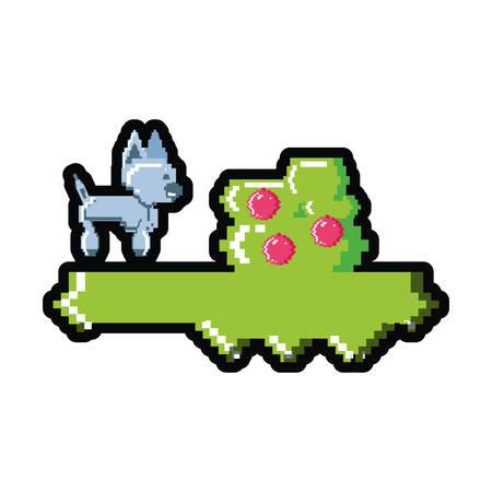 video game pixelated robotic dog vector illustration design Standard-Bild - 134173480
