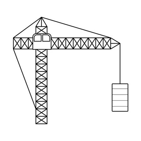 construction crane tower isolated icon vector illustration design