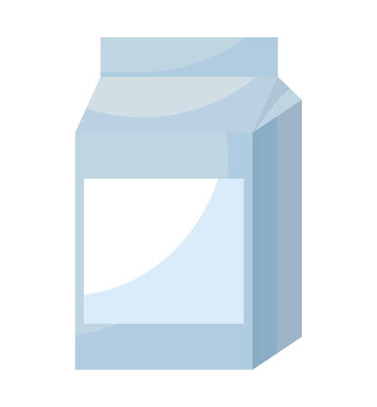 milk in box isolated icon vector illustration design