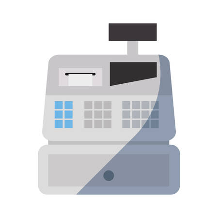 online shopping cash register on white background vector illustration Illustration