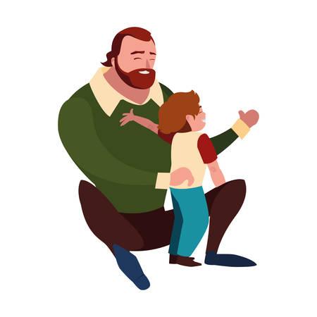 father with son characters vector illustration design Vektoros illusztráció