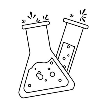 tube test laboratory icons vector illustration design