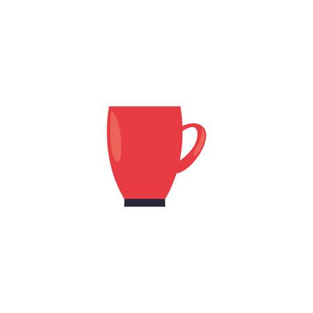 Kitchen mug icon design, Supply domestic household tool cooking restaurant and domestic theme Vector illustration Ilustração