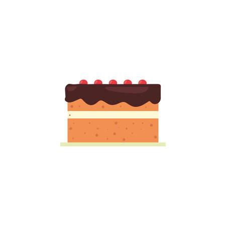 Sweet cake icon design, dessert food delicious sugar snack and tasty theme Vector illustration Фото со стока - 134685407