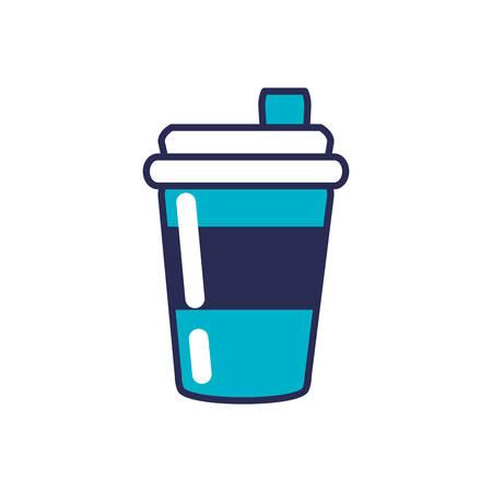 beverage in plastic container vector illustration design