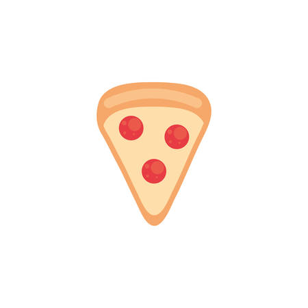 pizza icon design, Eat food restaurant menu dinner lunch cooking and meal theme Vector illustration 版權商用圖片 - 134691018