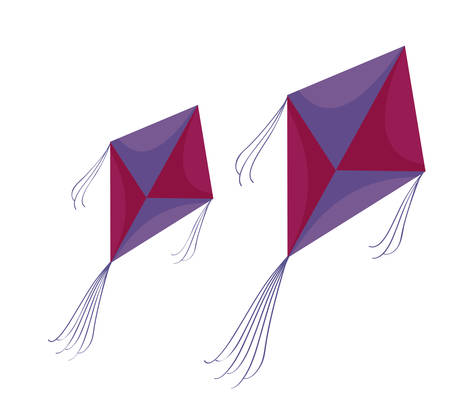 kites flying isolated icon vector illustration design