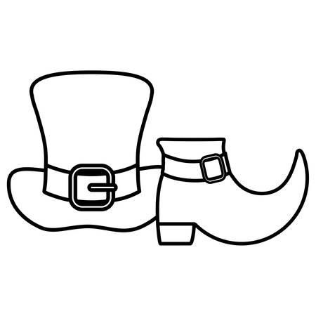 st patricks leprechaun hat with boot vector illustration design Foto de archivo - 134691606