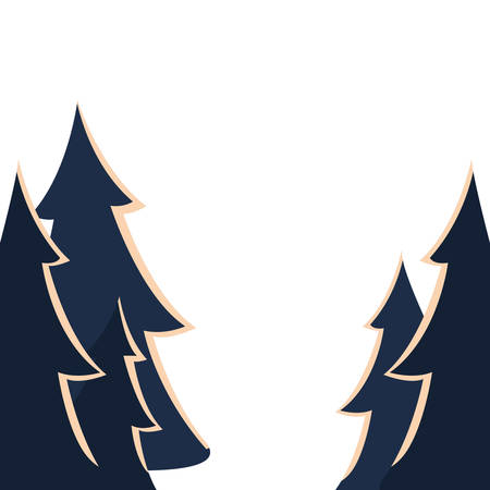 Pine trees design, Nature plant winter season environment natural and abstract theme Vector illustration