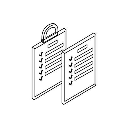 clipboard checklist document icon vector illustration design Illustration
