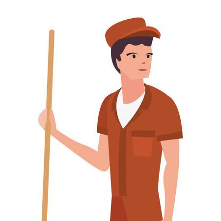 street sweeper profession labour day vector illustration design Foto de archivo - 134324469
