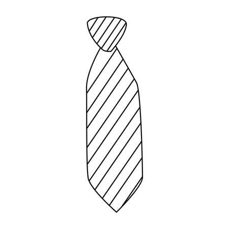 men accessory fashion necktie on white background vector illustration Vectores