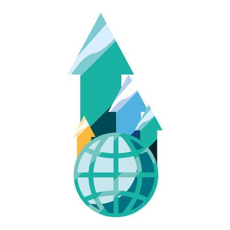 world finance up arrows vector illustration design
