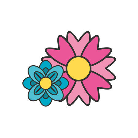 beautiful flowers naturals isolated icon vector illustration design Zdjęcie Seryjne - 134316465