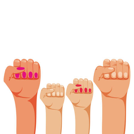 hands fist isolated icon vector illustration design
