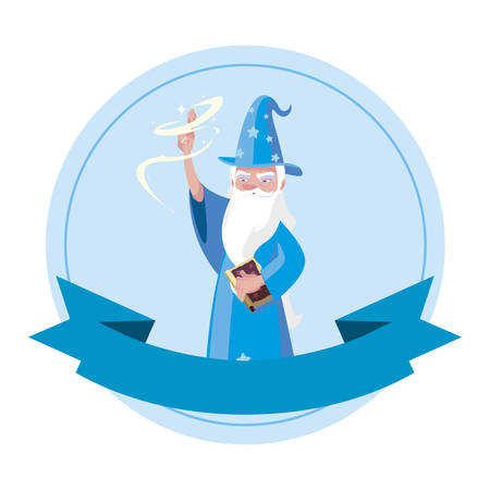 wizard of tales character vector illustration design Illustration