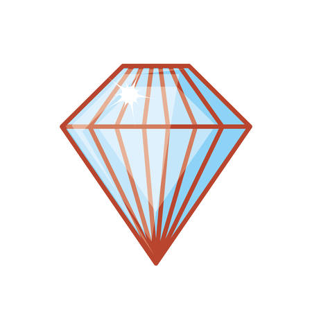 cute diamond isolated icon vector illustration design