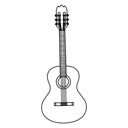 guitar instrument musical icon vector illustration design