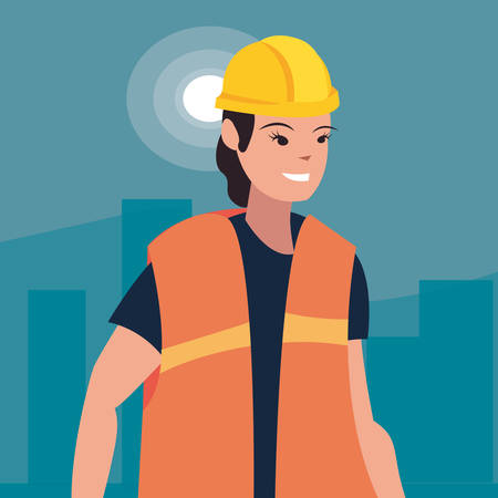 worker woman employee labour day vector illustration