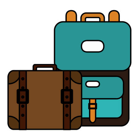 suitcases travel vacations icons vector illustration design Illusztráció