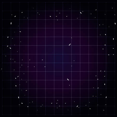 night sky with lights icons vector illustration design  イラスト・ベクター素材