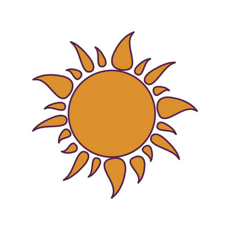 radiant sun hot isolated icon vector illustration design