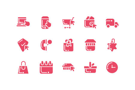 bundle of electronic commerce with icons set vector illustration design
