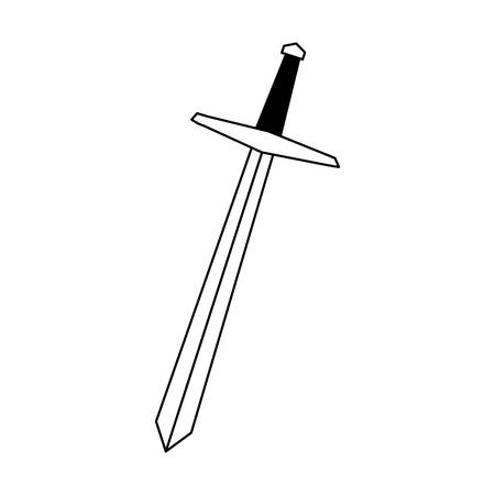 sword long on white background vector illustration design
