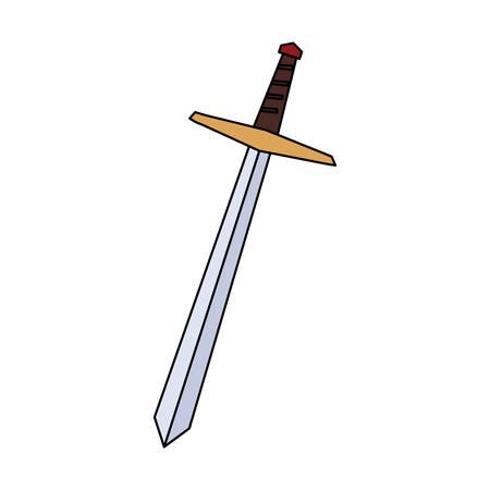 sword long on white background vector illustration design Imagens - 134508501