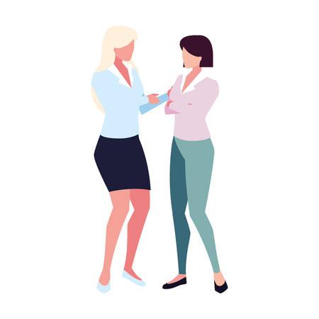 businesswomen with standing on white background vector illustration design Foto de archivo - 134708954