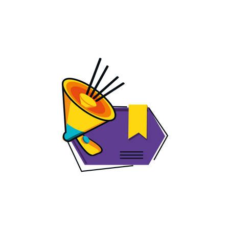 megaphone sound with label vector illustration design Ilustrace