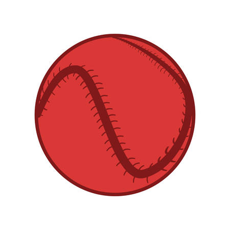 baseball ball sport equipment vector illustration design