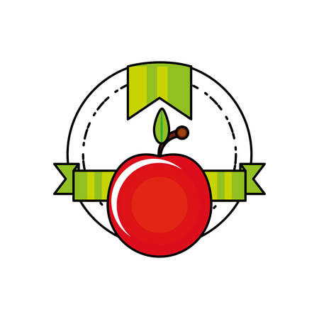 fresh tomato vegetable seal stamp vector illustration design Foto de archivo - 134547274