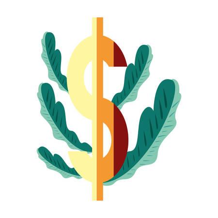 gold dollar symbol on white background vector illustration Ilustração