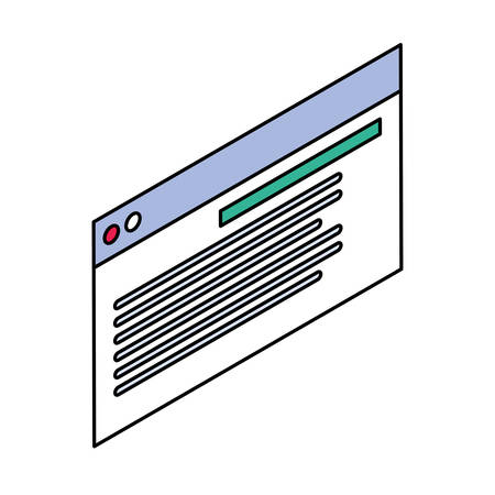 web programming process on white background vector illustration design Zdjęcie Seryjne - 134559792