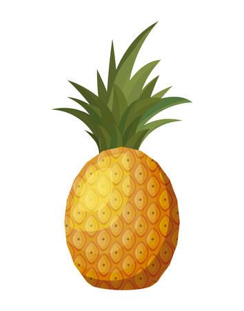 fresh pineapple fruit isolated icon vector illustration design Ilustracja