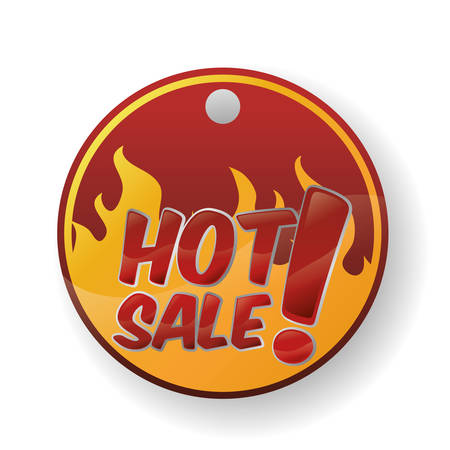 hot sale design over white background, vector illustration Standard-Bild - 134570462