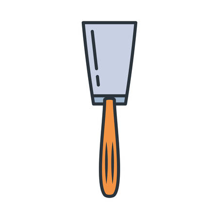 Trowel tool design, under construction work repair progress reconstruction industry and build theme Vector illustration Illusztráció