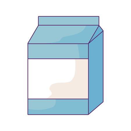 delicious milk box isolated icon vector illustration design 向量圖像