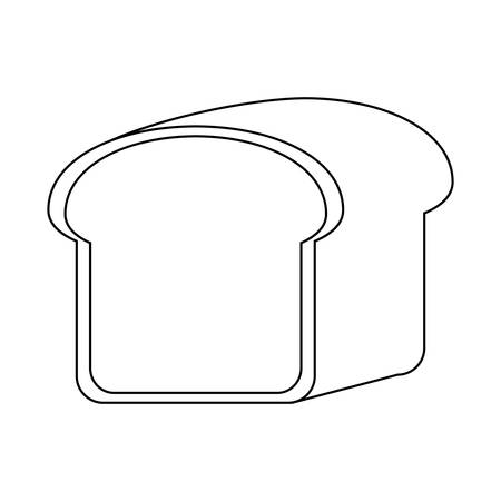 fresh slice bread isolated icon vector illustration design
