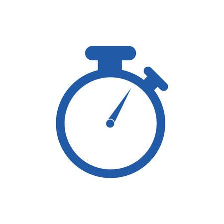 chronometer watch desing vector illustration silhoutte Illustration