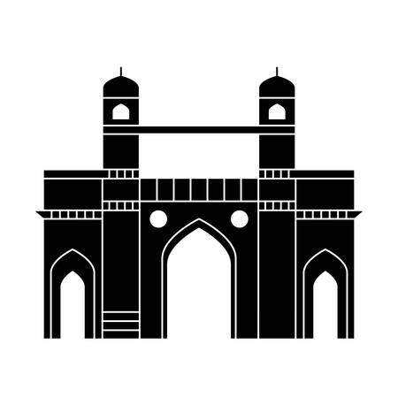 gate structure emblematic of indian vector illustration design Stock Illustratie