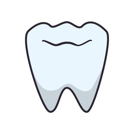 tooth human isolated icon vector illustration design Illusztráció