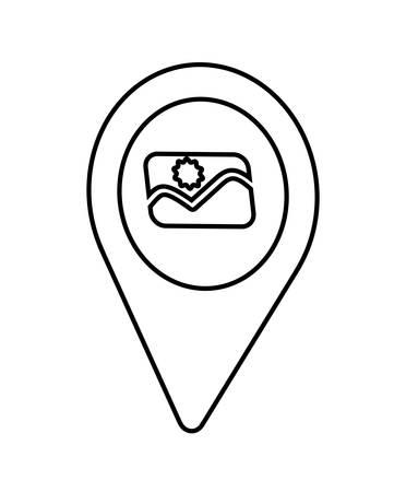 pin pointer location icon vector illustration desing