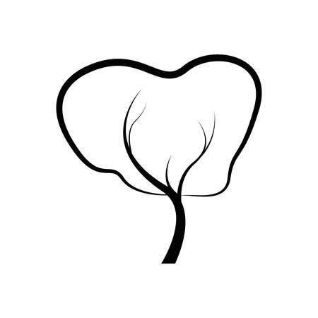 tree plant cultivated icon vector illustration design Ilustracja